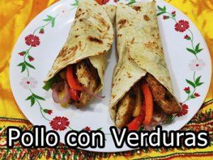 receta de fajitas de pollo con verduras