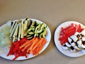 ingredientes fajitas de verduras