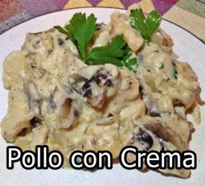 receta de pollo con crema