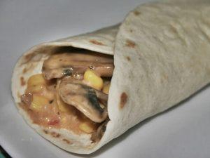 receta de fajitas de pollo con champiñones u hongos
