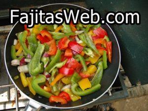 verduras para fajitas